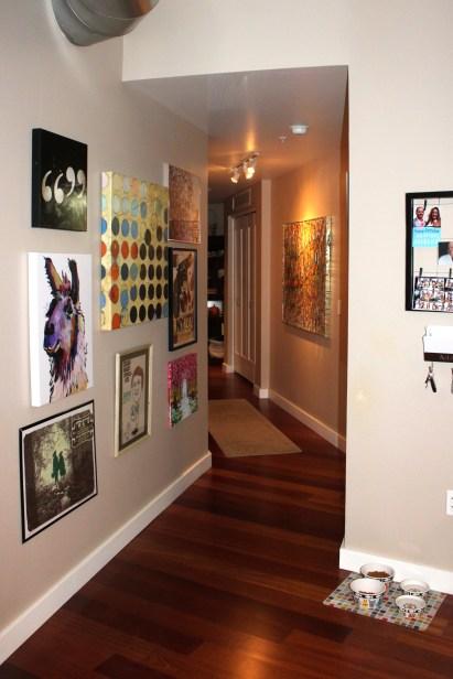 Hallway, gallery wall
