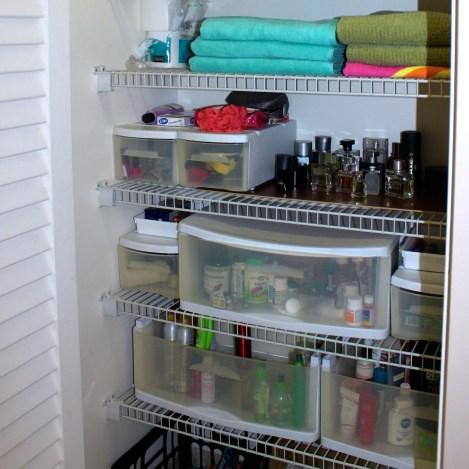 Master Bath, closet storage