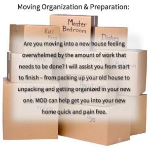 Moving Organization & Preparation