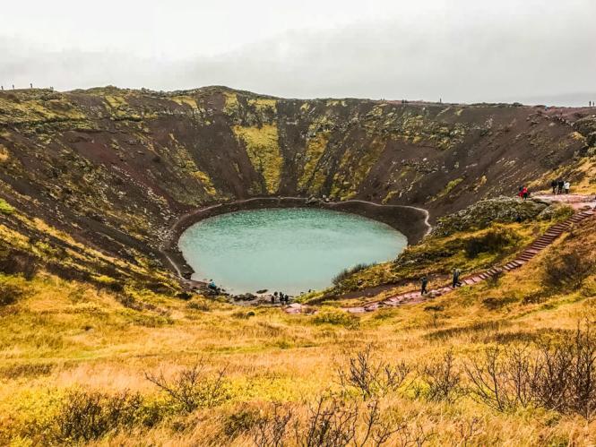 Kerid Cráter Círculo Dorado Islandia