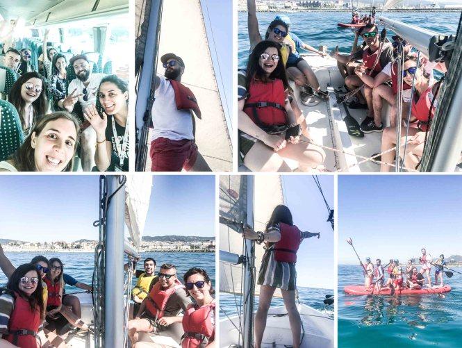 Barcelona Travel Bloggers vela ligera mataró