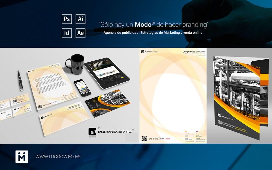 2- diseño de Marca. Identidad Corporativa en Ciudad Real Puertonarcea. www.modoweb.es