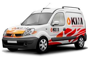 Diseño gráfico Logotipo. modoweb. Laboratorios Químicos. Industrias Kimi. Puertollano. Ciudad Real.