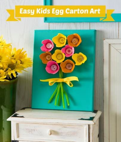 Easy kids craft - egg carton art