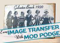 How to transfer photos to wood - Mod Podge Rocks