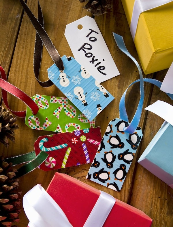Duck Tape Crafts Dry Erase Holiday Gift Tags Mod Podge