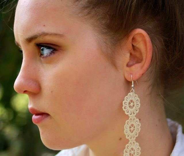How To Make Diy Lace Earrings In Three Easy Steps