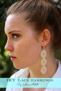 How to make DIY lace earrings - Mod Podge Rocks