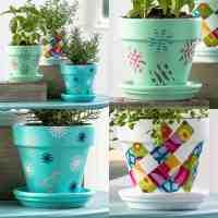 Decorating Clay Pots Ideas | Decoratingspecial.com