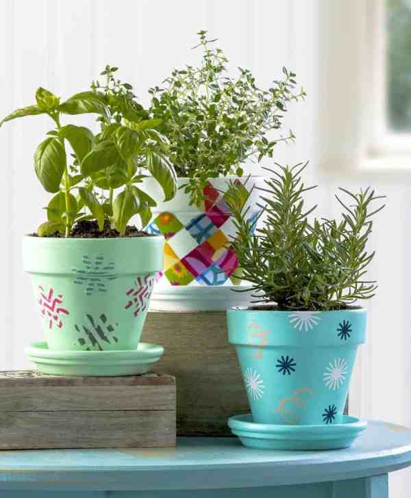 How to Decorate Clay Flower Pots