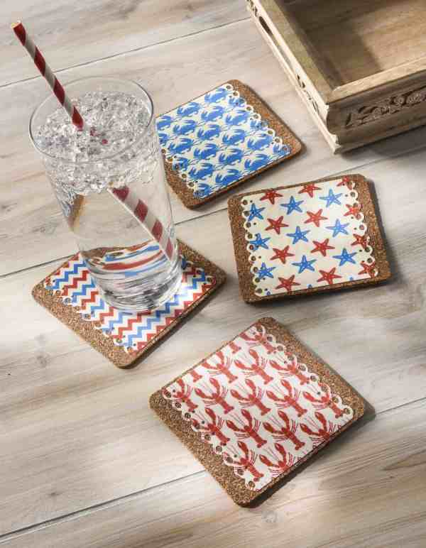 Decoupage Nautical Drink Coasters - Mod Podge Rocks
