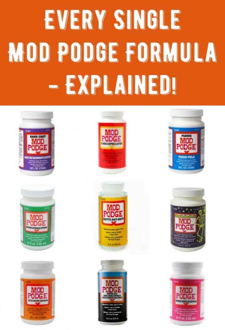 What Is Mod Podge Gloss Used For : podge, gloss, Every, Single, Podge, Formula, Explained!, Rocks