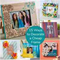 15 Ways to Decorate Cheap Wooden Picture Frames - Mod ...