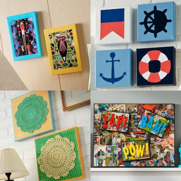 Mod Podge Canvas Art Ideas Wall - Rocks