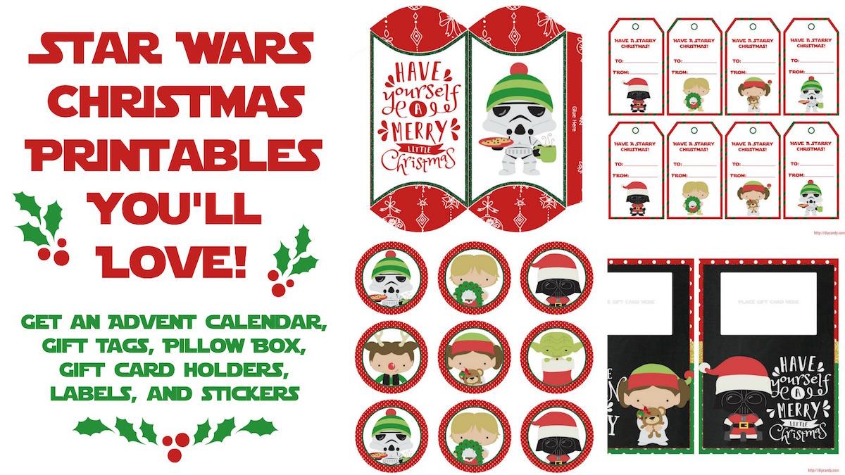 Star Wars Christmas Printables Best Holiday Ever Mod Podge Rocks