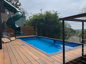 Modpool, swimming pools made from storage containers