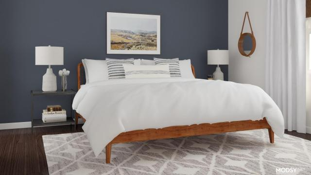 Relaxed Mid Century Modern Bedroom   Modern-Style Bedroom ...