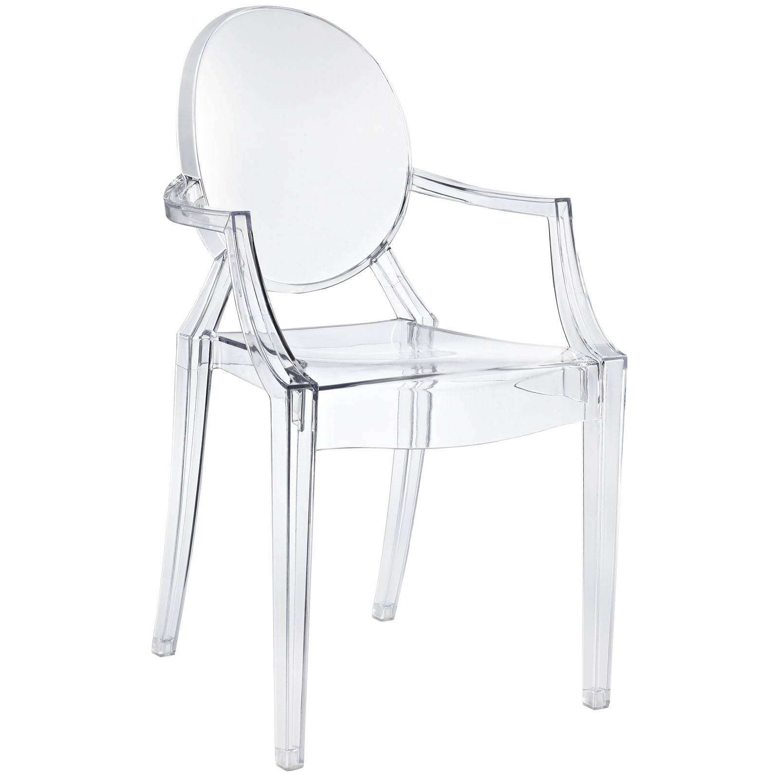 Clear Acrylic Chair Philippe Starck Style Louis Ghost Arm Chair
