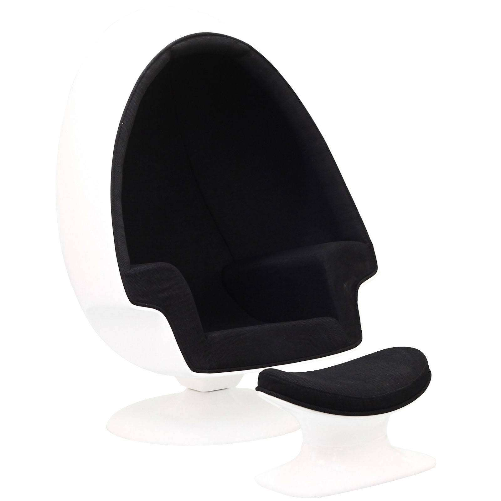 Egg Shaped Chairs Eero Aarnio Alpha Shell Egg Chair And Ottoman