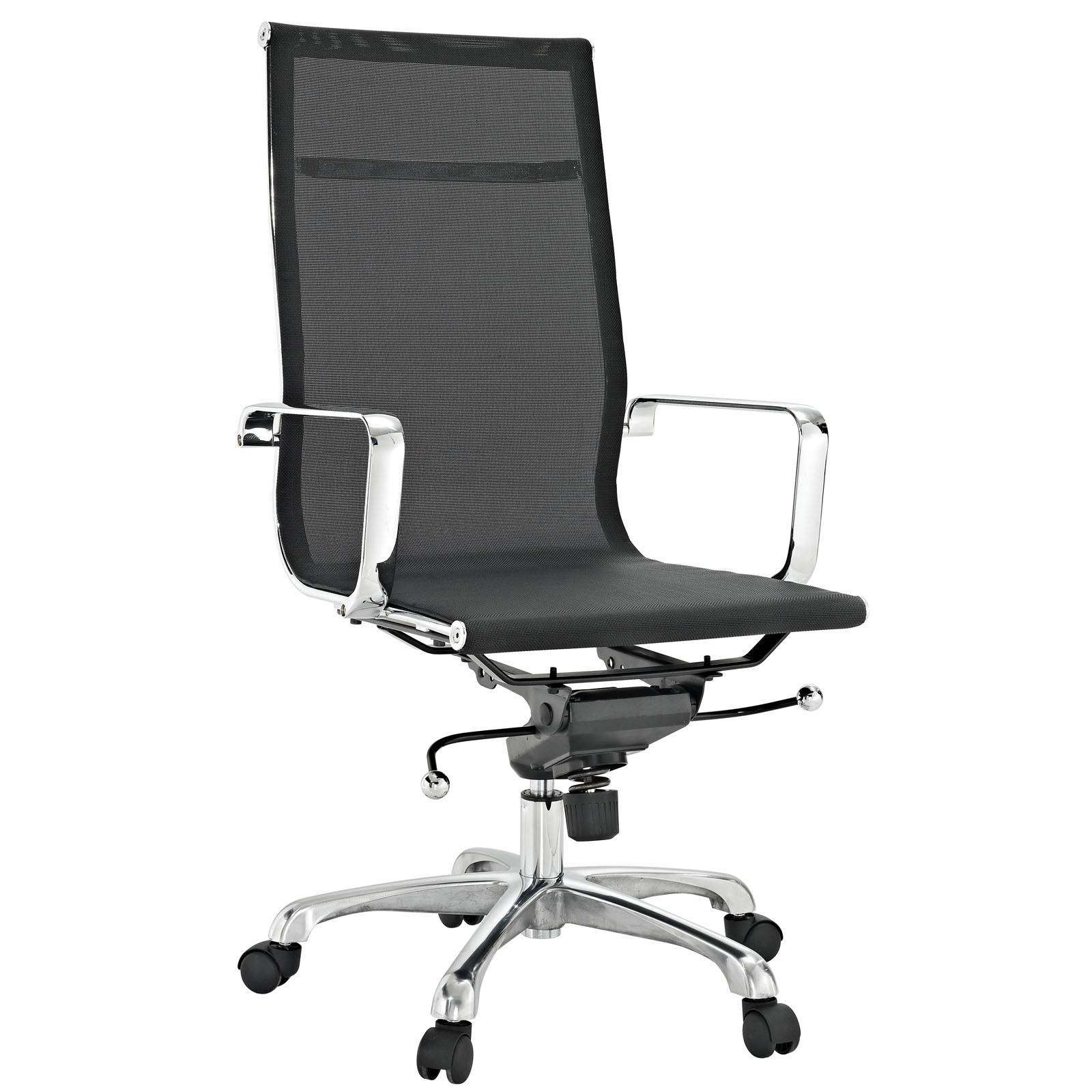 High Back Office Chairs Classic Slider Mesh High Back Office Chair