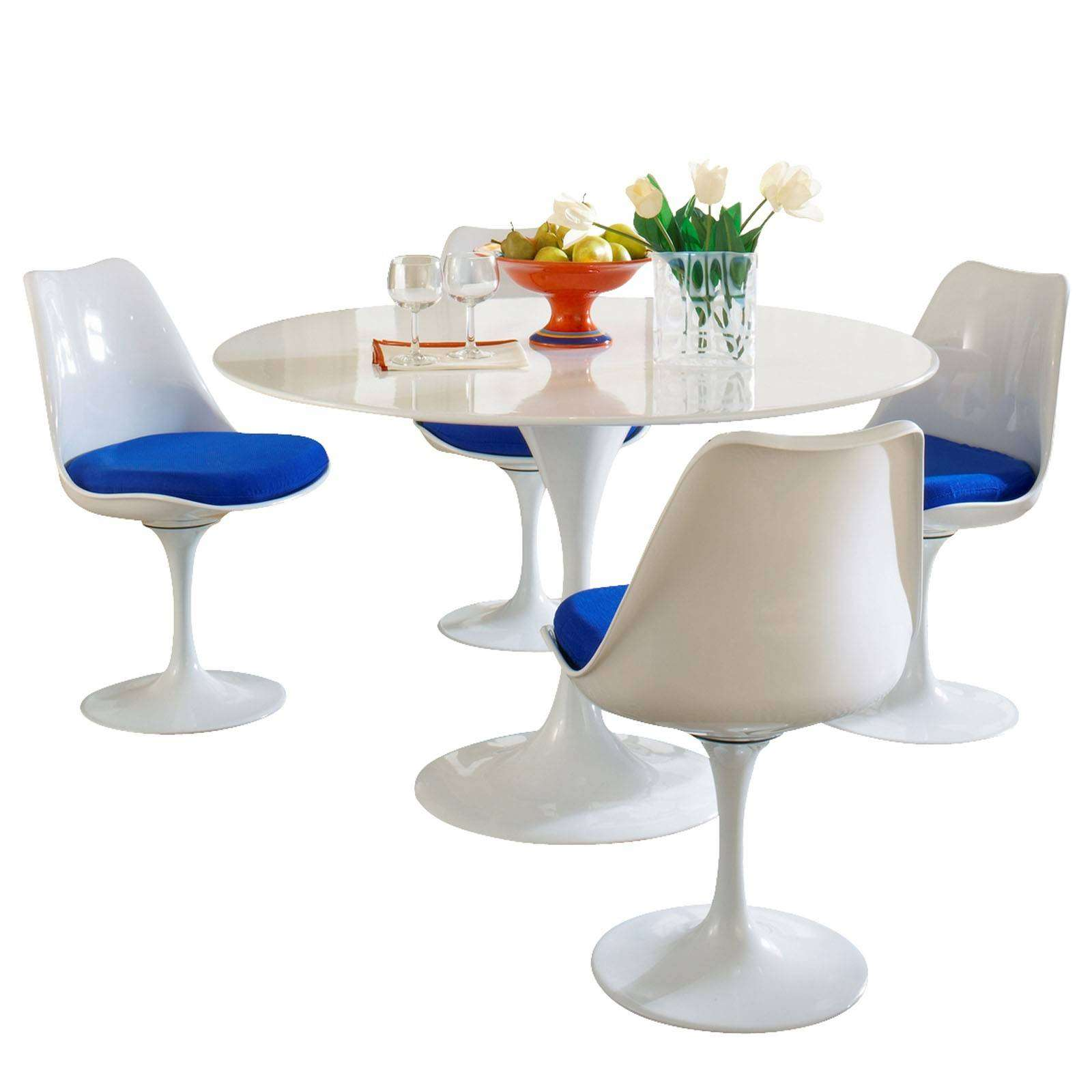 Tulip Table And Chairs Eero Saarinen Style Tulip Dining Set
