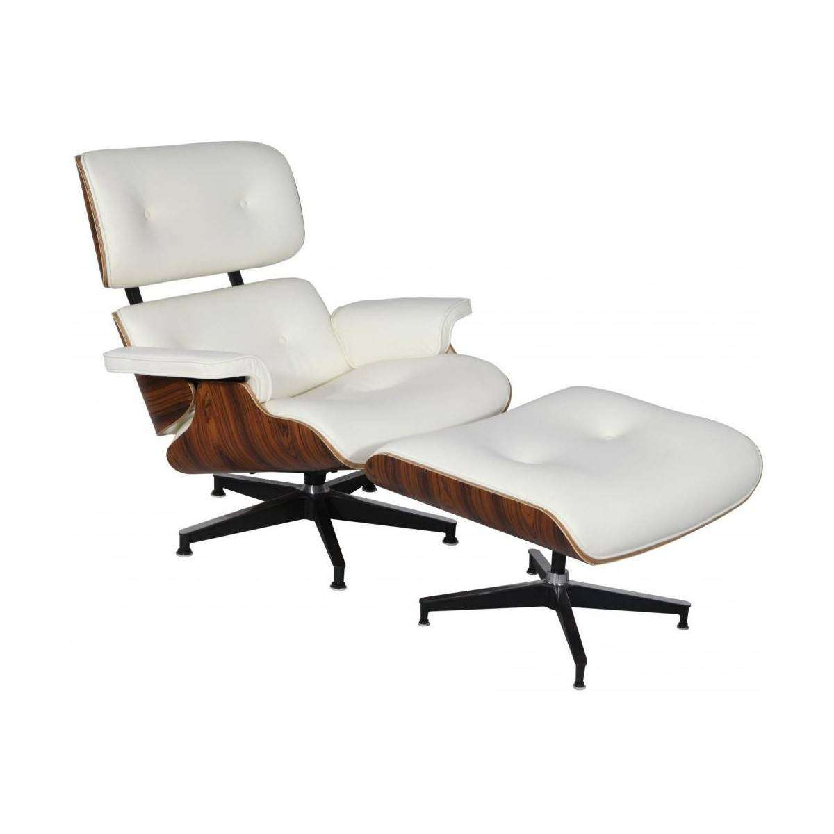 White Lounge Chairs Mod Lounge Chair And Ottoman White Palisander