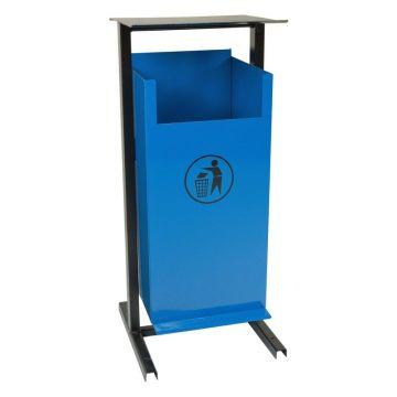 Урна для мусора уличная металлическая опрокидывающаяся напольная УОН