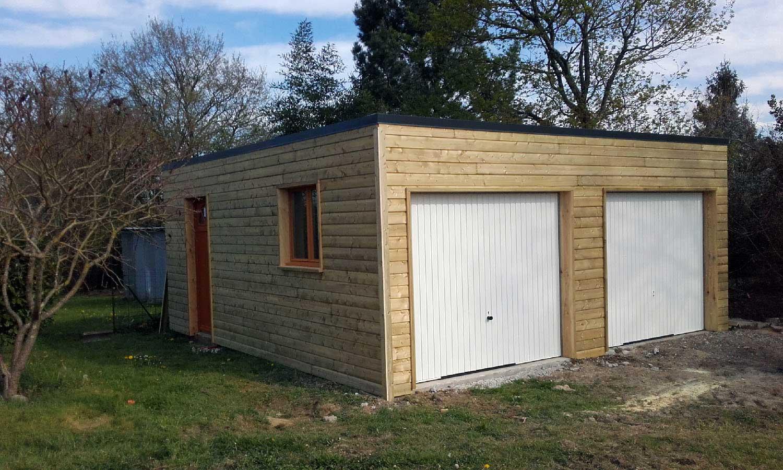 Garage Bois En Structure Acier Modulables
