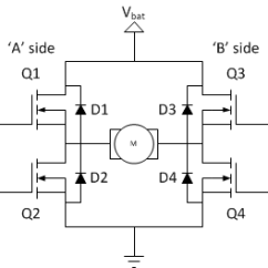 4 Wire Dc Motor Connection Diagram Usb 3 0 Cable Wiring H Bridges The Basics Modular Circuits Image