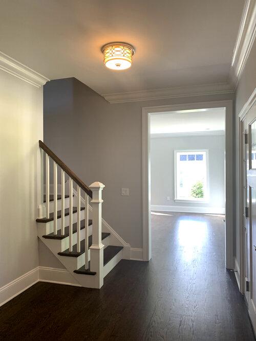Thomas Sturges Construction modular home hallway.