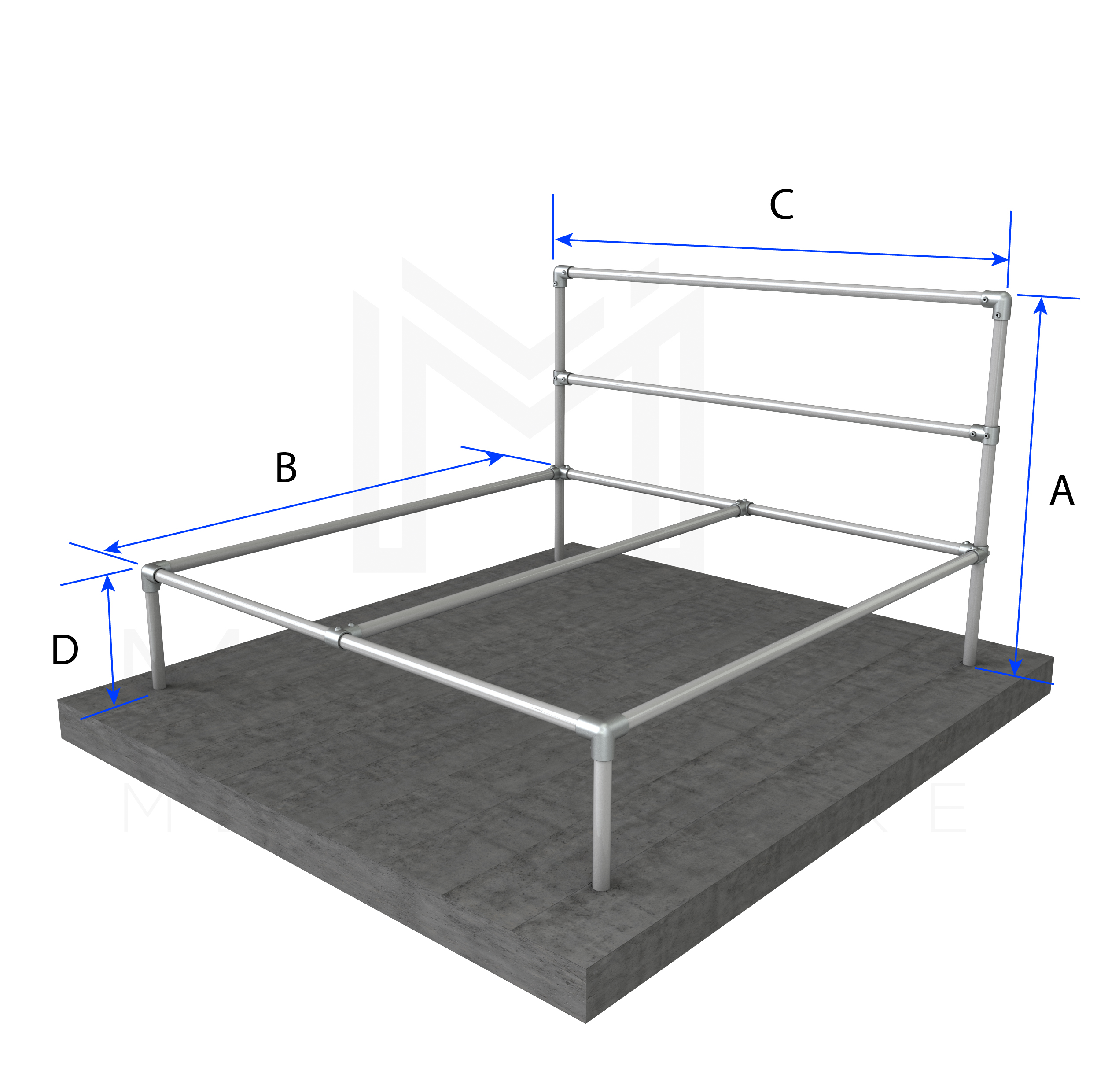 King Size Bed Basic Frame
