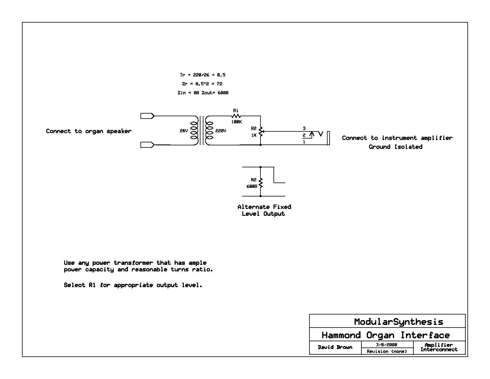 hight resolution of hammond direct out schematic