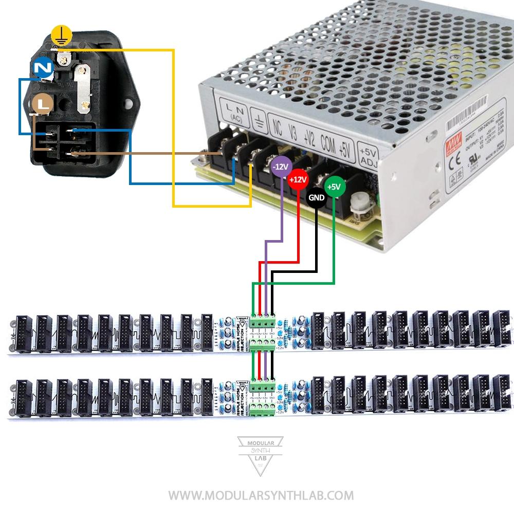 eurorack power kit modular synth power kit mw rt65b modularsynthlab. Black Bedroom Furniture Sets. Home Design Ideas