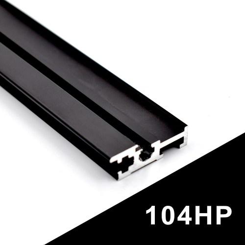 104HP BLACK EURORACK RAILS