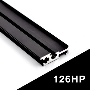 126HP BLACK EURORACK RAILS