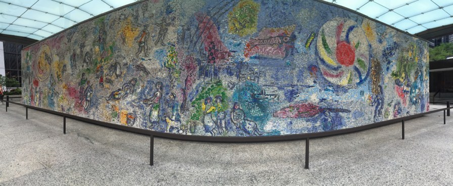 """The Four Seasons"" mosaic by Marc Chagall taken while doing field recording in Chicago, Illinois, USA"