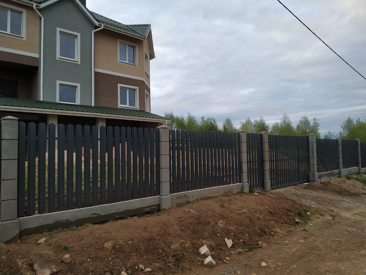 Купить в Минске модульный забор и металлоштакетник