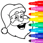 Christmas Coloring Games – Coloring Pages for Kids 8.0 APK MODs Unlimited money Download on Android