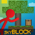 Stickman vs Multicraft Skyblock Craft 1.2.3 APK MODs Unlimited money Download on Android