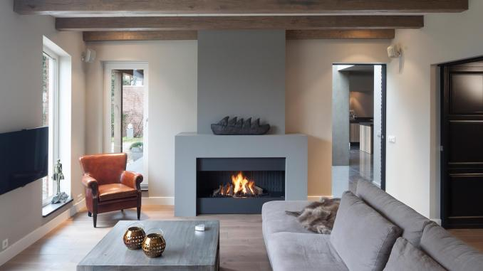 Modern Stone Fireplace Design Ideas
