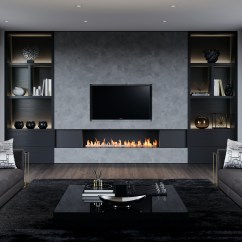 Silver Grey Sofa What Colour Walls Pottery Barn White Table Top 10 Hottest Bespoke Fireplace Design Trends Of 2018 ...