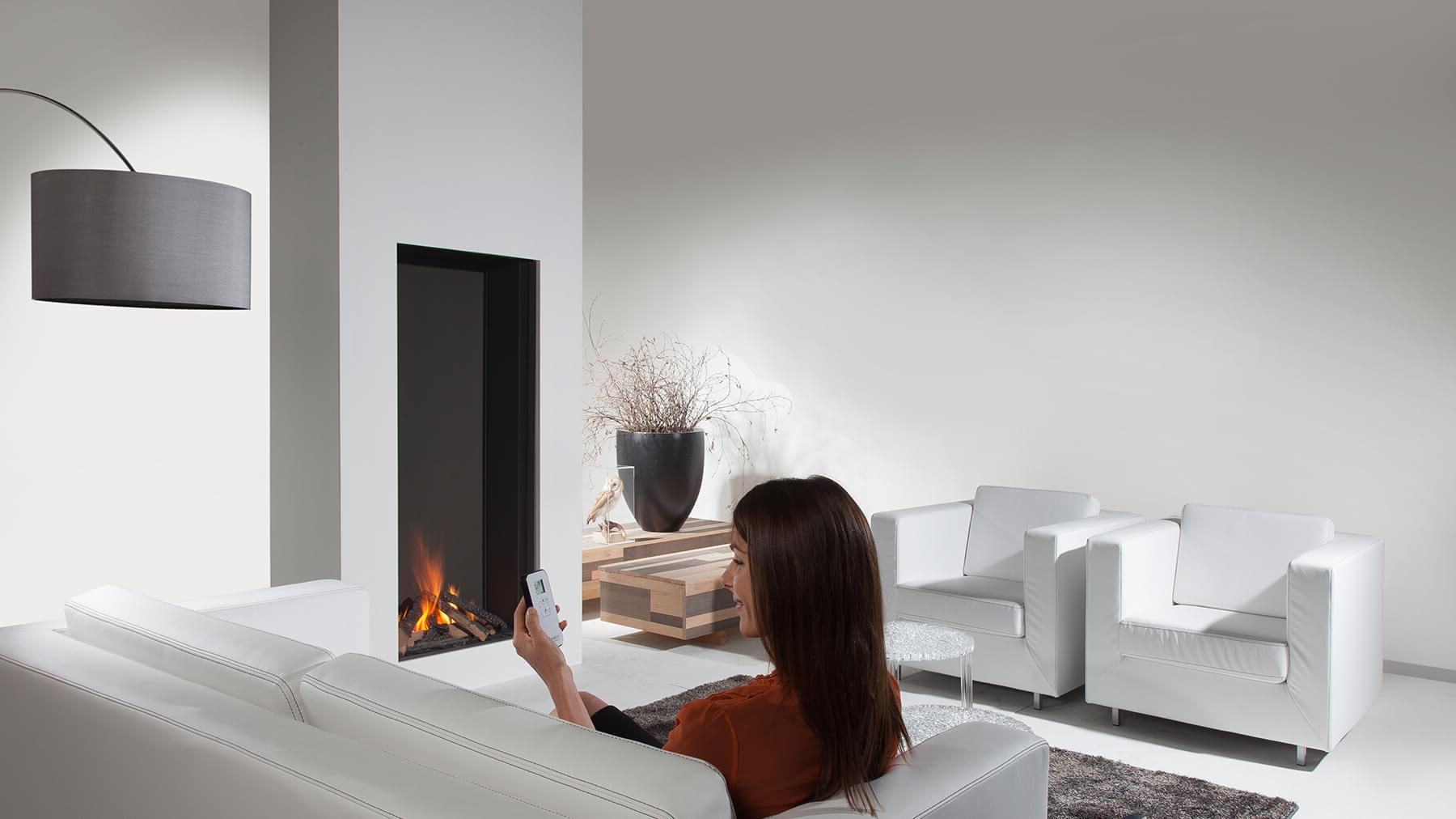 850 Closed Modern Balanced Flue Gas Fire