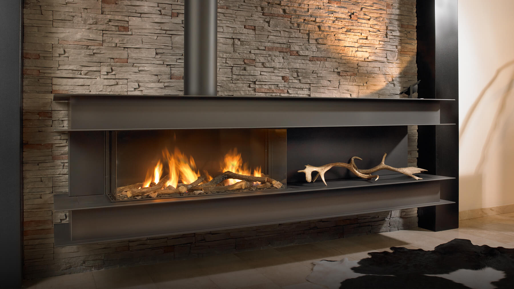 Seno Modern Wall Hung Gas Fire