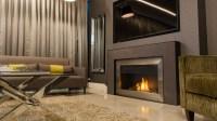 844BR Slate Designer Fireplace I Modern Mantel