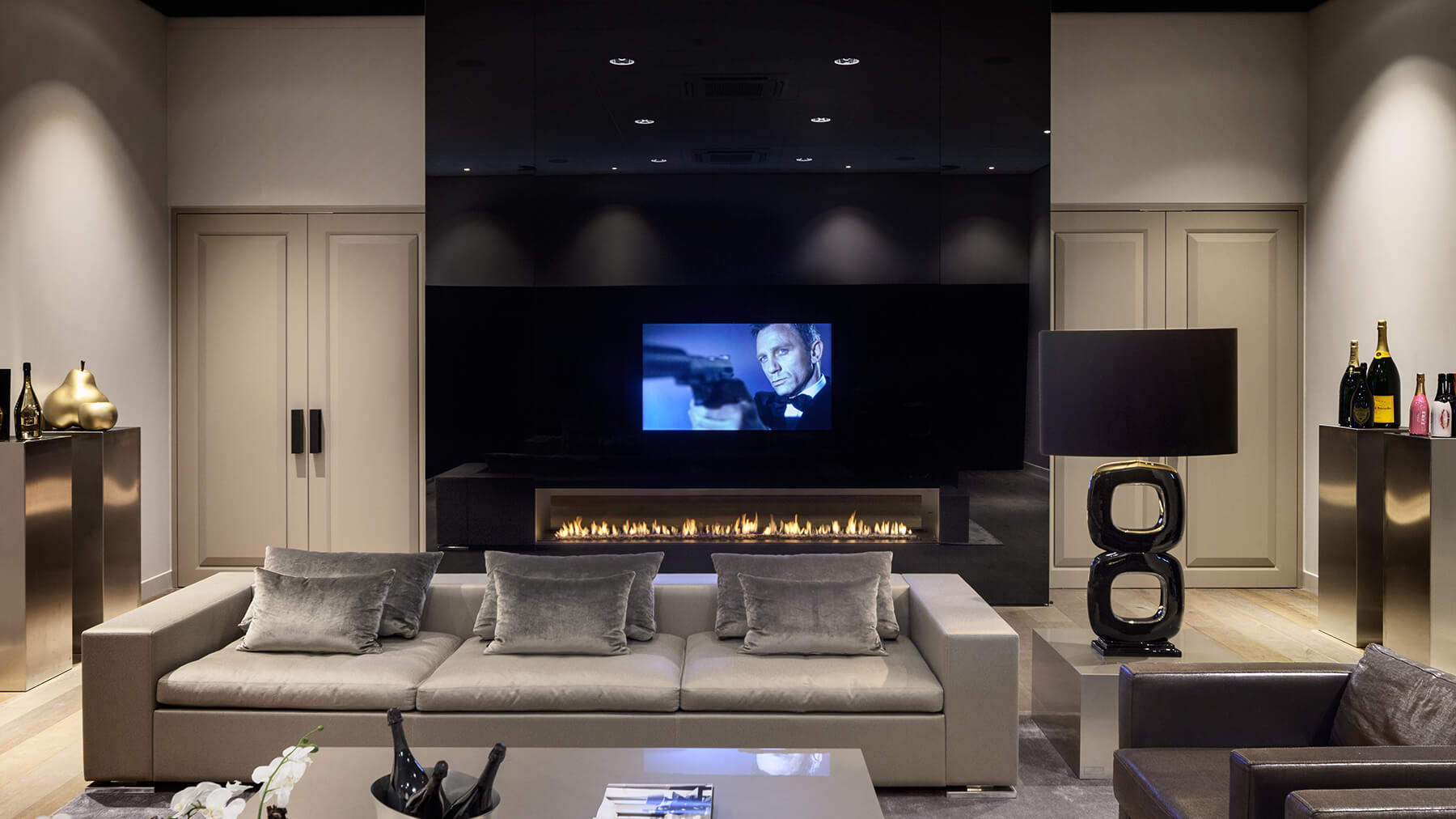 Black Hole In The Wall Fire I Designer Fireplace