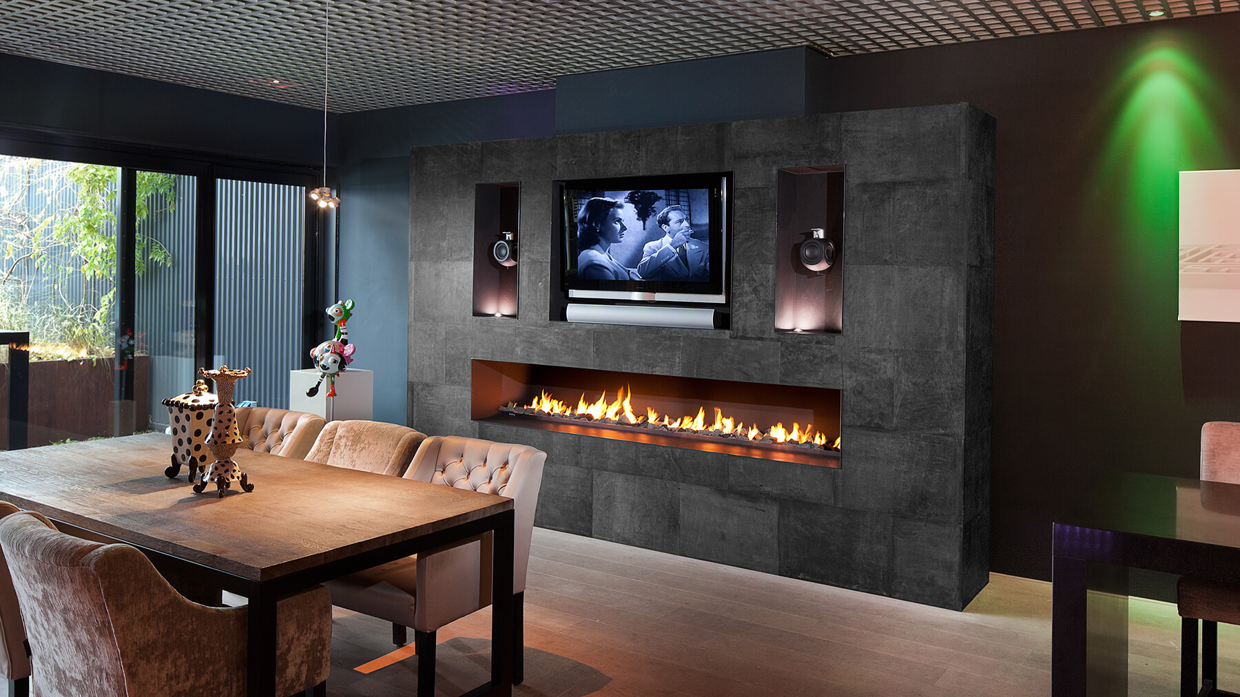 Custommade Fireplace As Home Centrepiece