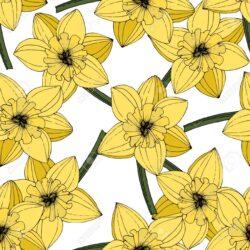 Stambių gėlių raštas