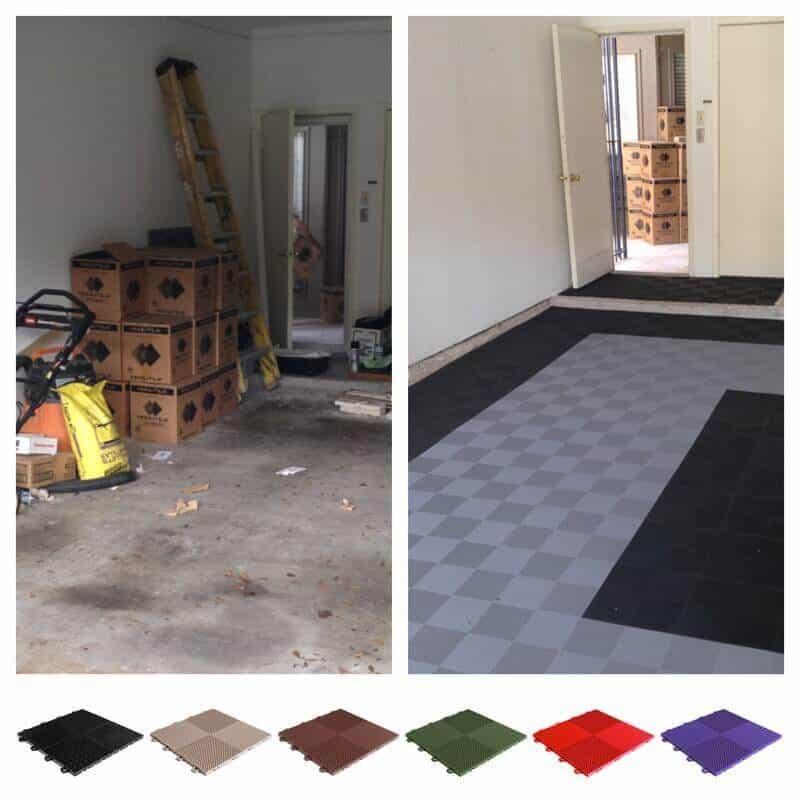 perforated garage floor tiles drain 12 x 12 in