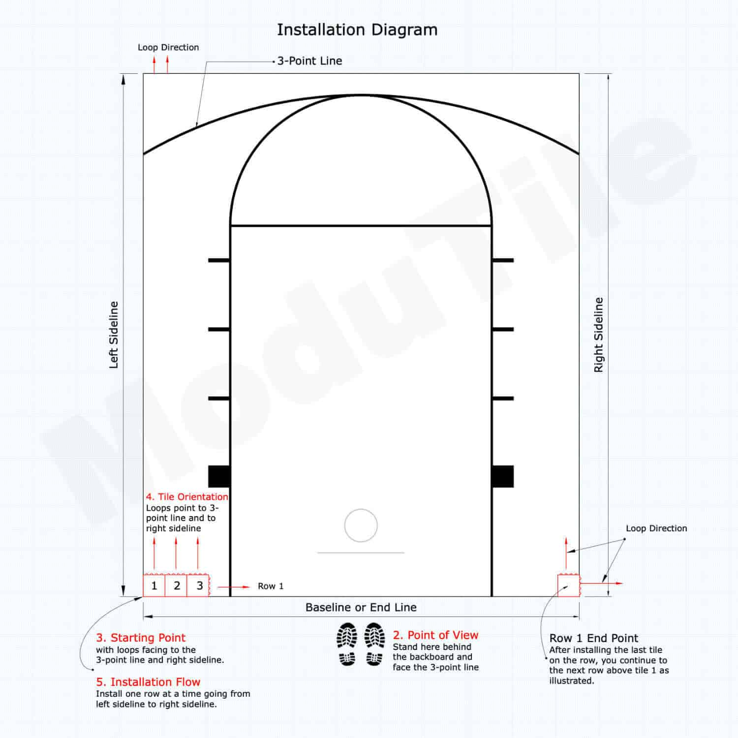 hight resolution of basketball court installation diagram