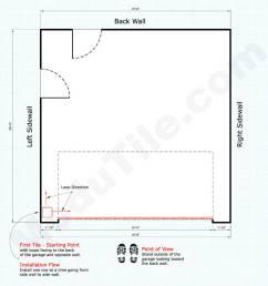 interlocking garage floor tile installation starting point 2 car [ 1024 x 1024 Pixel ]